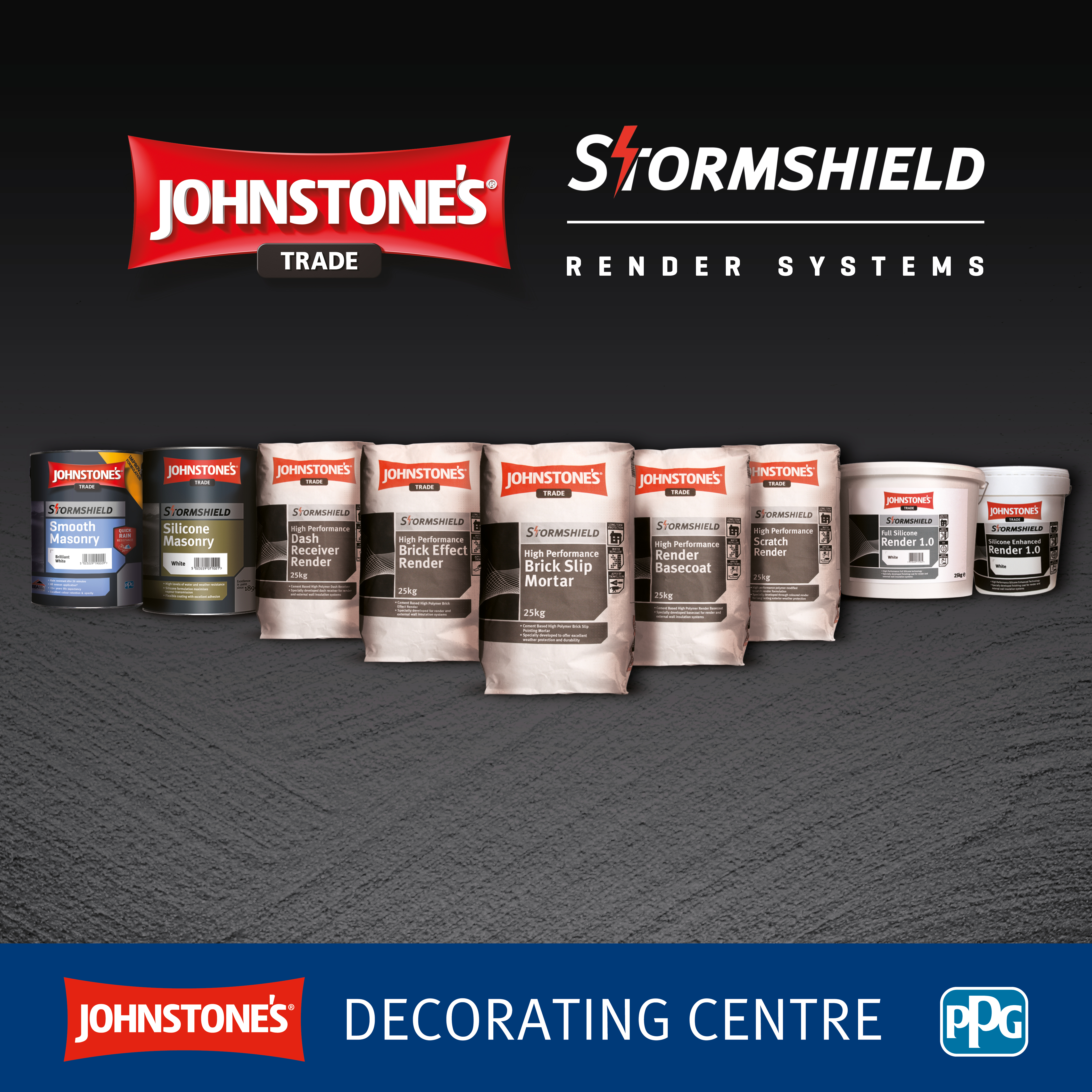 RENDER SOLUTIONS LAND IN ALL JOHNSTONE'S DECORATING CENTRES | Pro